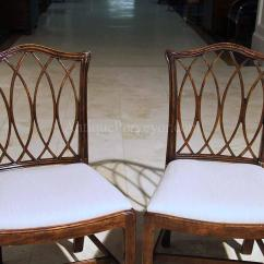 Chippendale Dining Chair Wooden High Cushion Mahogany Chairs For The Room Leather Seats