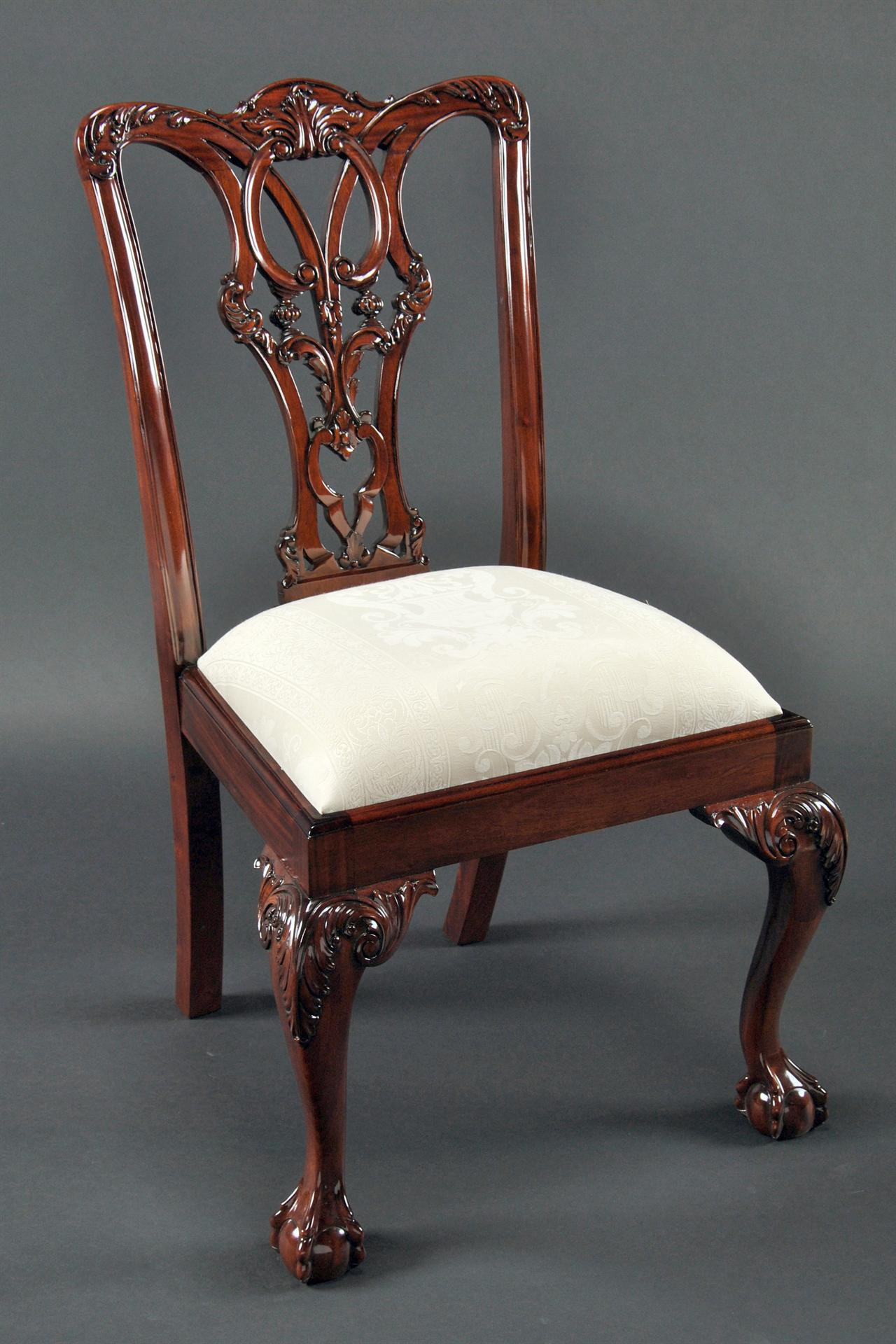chair ball game navy blue rocking pad mahogany and claw chairs