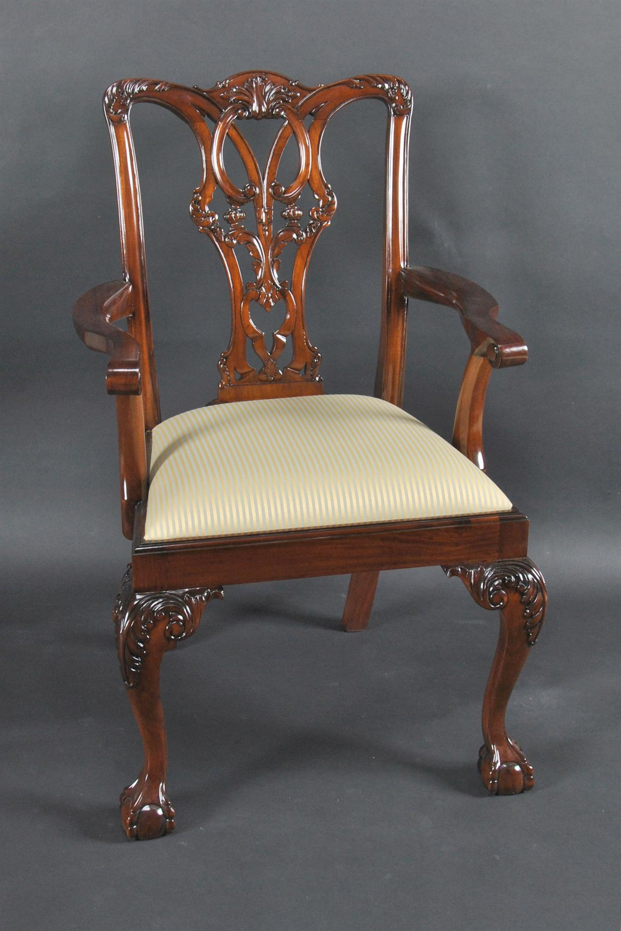 Mahogany Ball And Claw Chairs