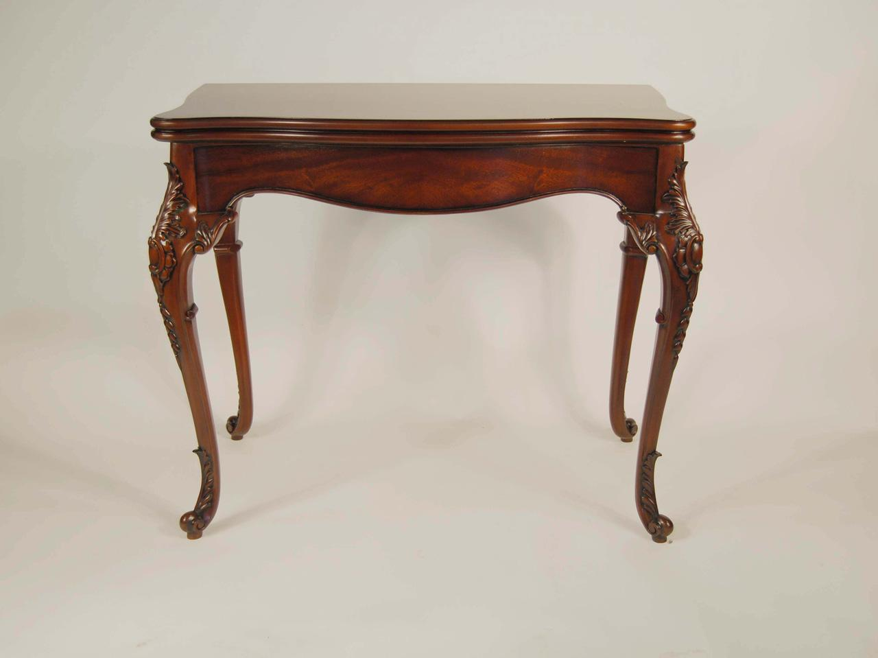 French Chippendale Games Table