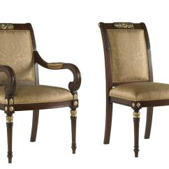 Gold Dining Chairs Fabric Parsons Luxurious French Upholstered Accented Quick Ship No Modifications