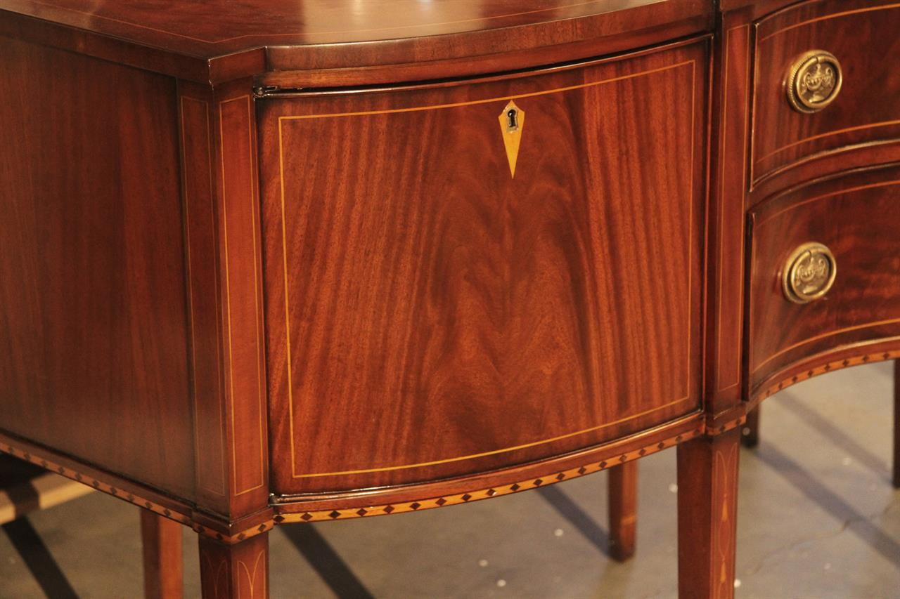 Formal Hepplewhite Style Mahogany Sideboard For The Dining