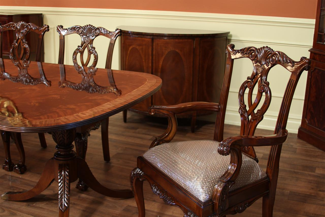 captain america table and chair set bobby knight throw high end dining federal style 12 ft mahogany ebay
