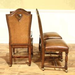 Poker Chairs With Casters Big Joe Cuddle Bean Bag Chair High End Leather Upholstered Game Brass Nail