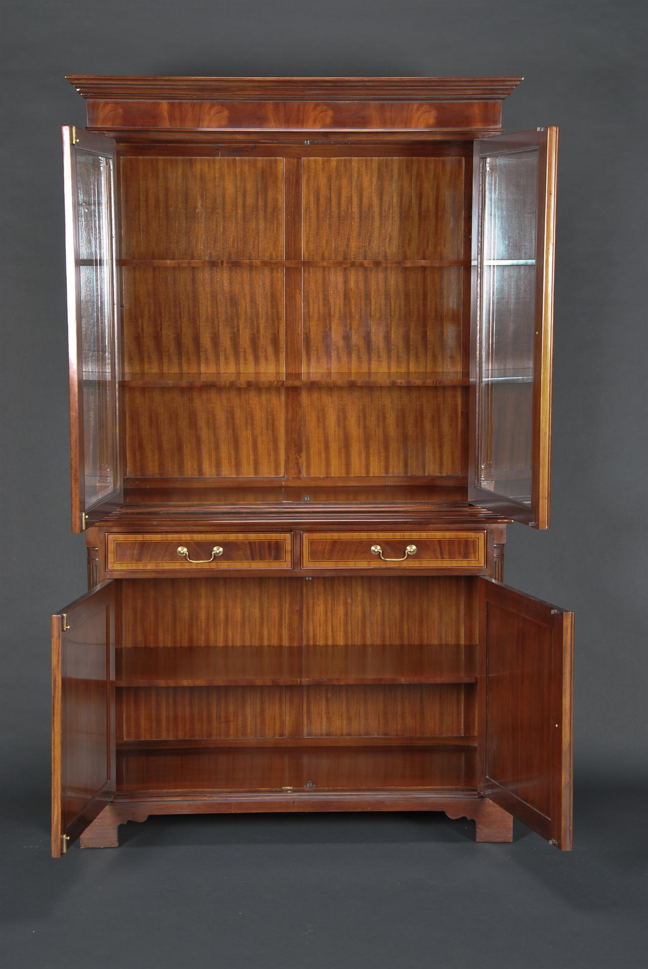 High End Mahogany Two Door China Cabinet  eBay