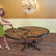Round Fold Up Chair Dining Room Captain Chairs Large Walnut Table With Leaves Seats 6-10 People