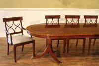 Large Oval Mahogany Double Pedestal Dining Room Table with ...