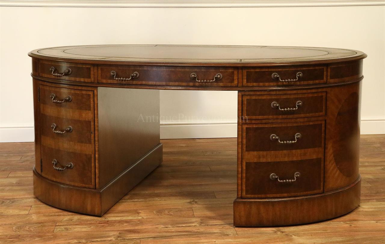 MaitlandSmith Walnut Burl Partners Desk 810853