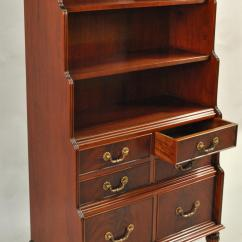 Antique Round Back Corner Chair Bedroom Chairs Ikea Mahogany Bookcase With Chest Of Drawers