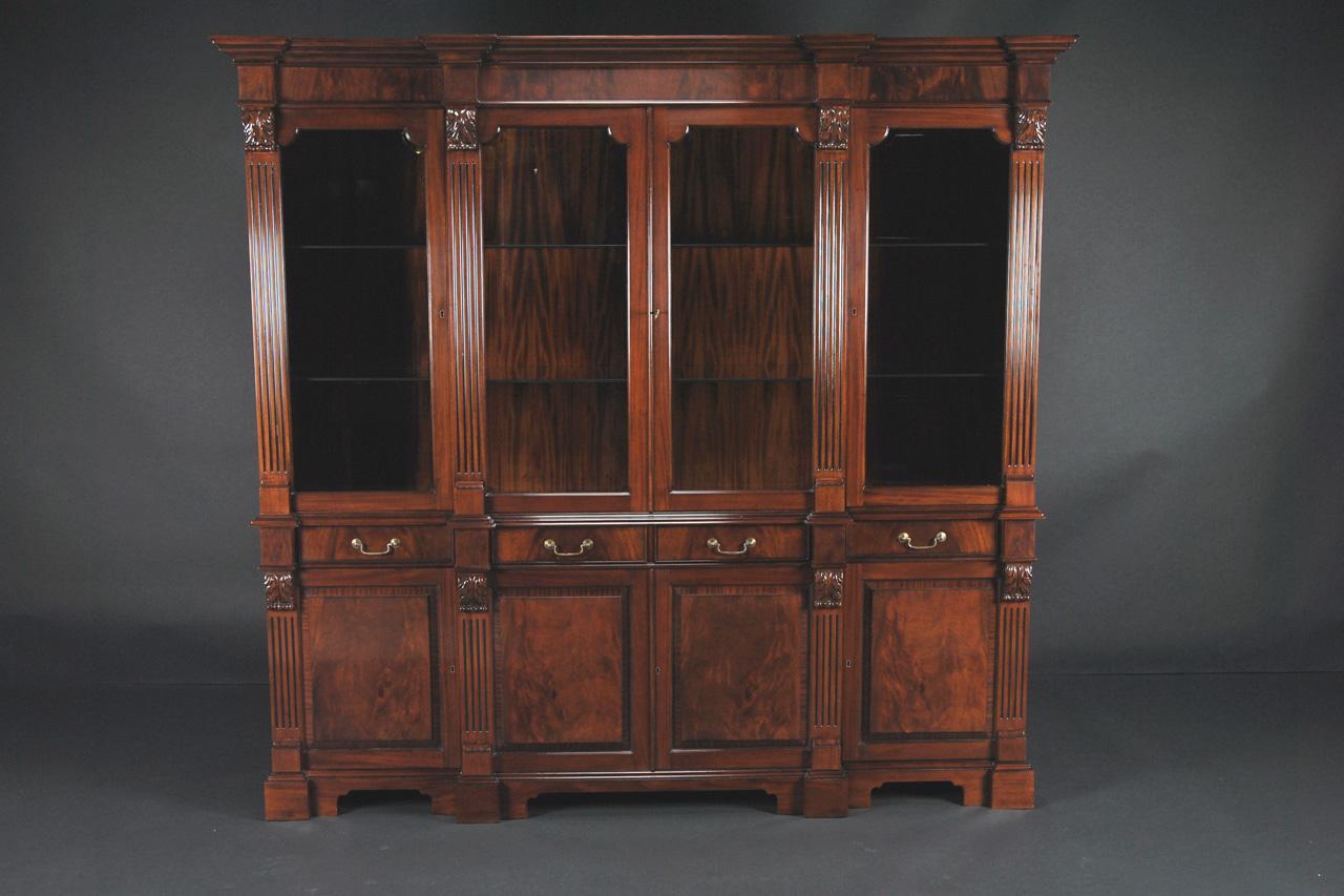 Regency Style Mahogany Four Door China Cabinet  eBay