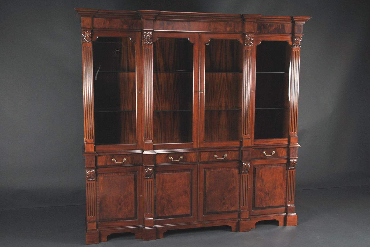 Mahogany China Cabinet High End Antique Reproduction