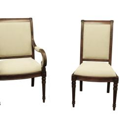 Upholstered Chairs For Dining Room Walmart Kitchen New French Style Stain