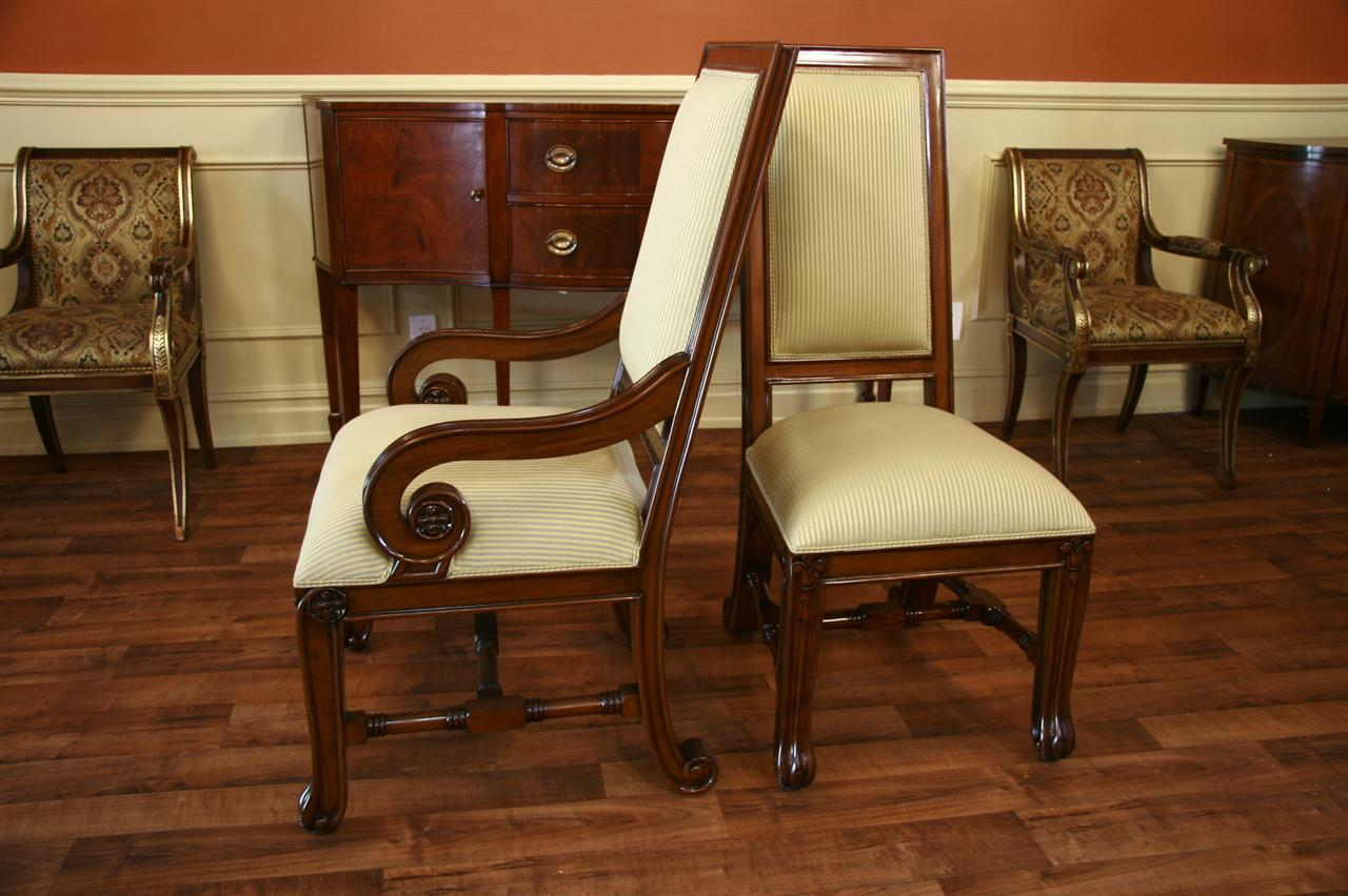 upholstered chairs for dining room affordable tables and large mahogany luxury