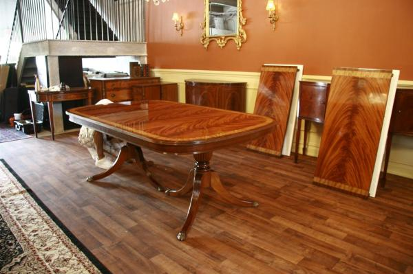 Large High End Mahogany Reproduction Dining Room Table