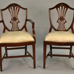 Vintage Dining Room Chairs Best For Posture Small Size Shield Back Solid