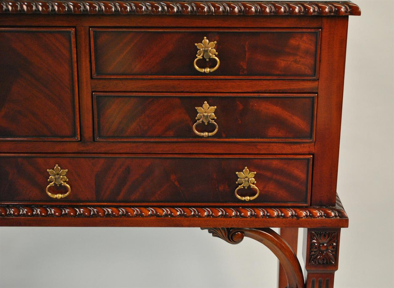 Mahogany Silver Chest  Tall Server Buffet on Legs