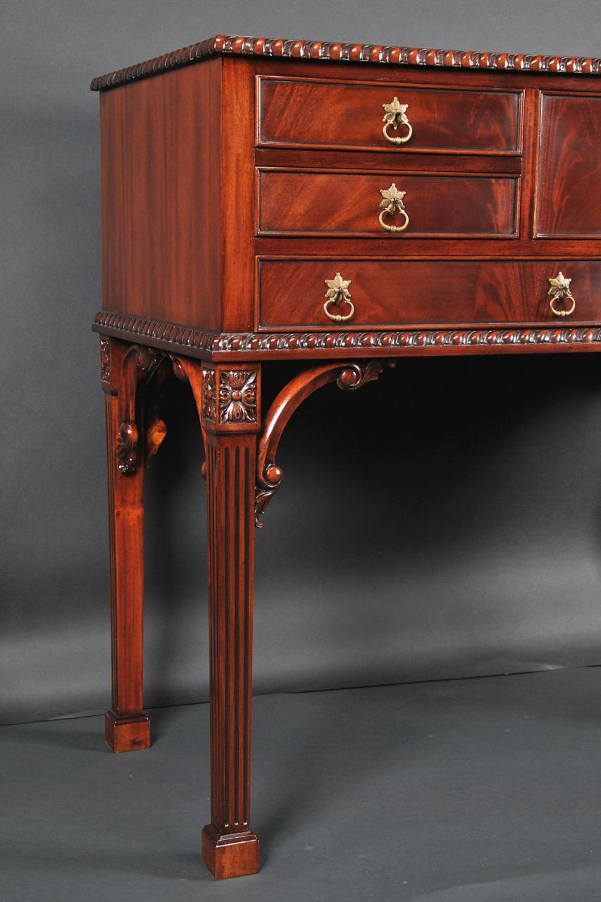 Mahogany Silver Chest Amp Tall Server Buffet On Legs