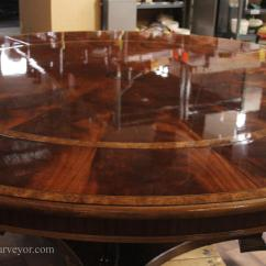 Large Kitchen Table Mosaic Tile Backsplash Extra 88 Round Mahogany Dining With Perimeter Leaves American Finished Tables Will Capture Light And Hold Up To Family Gatherings Better Than Any Other