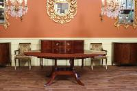 Round to Oval Mahogany Dining Table, High End Designer | eBay