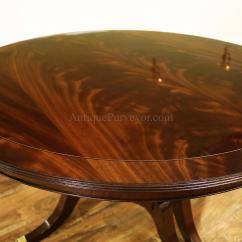 Round Dining Table For 6 Chairs Ergonomic Lounge Chair High End With 3 Leaves Sits 12