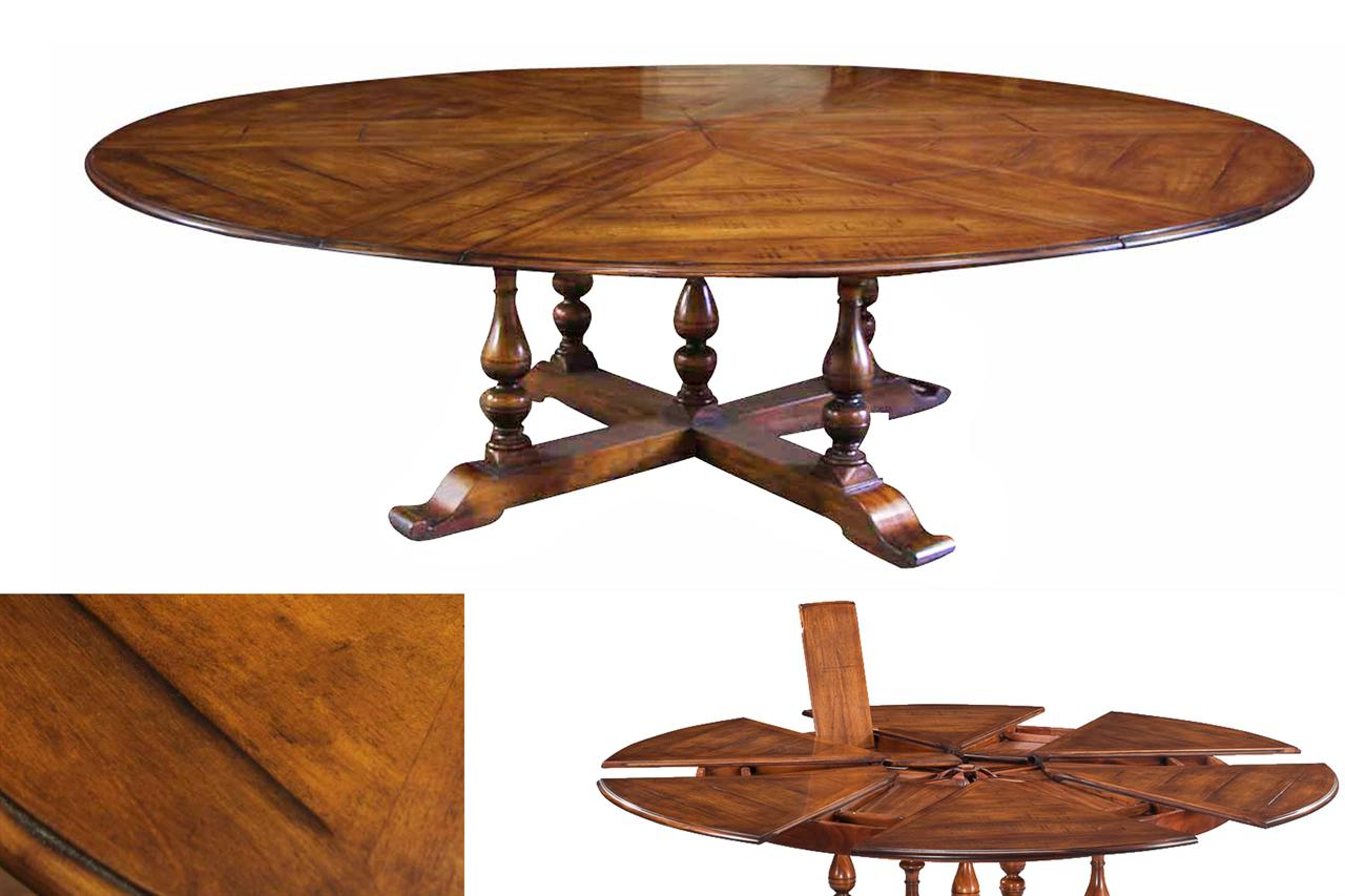 Tables Dining Round Leaves Room Large