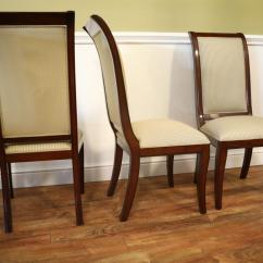 Sofa Liquidation Sale Rustic Sectional Set Of 8 Solid Mahogany Transitional Dining Room Chairs
