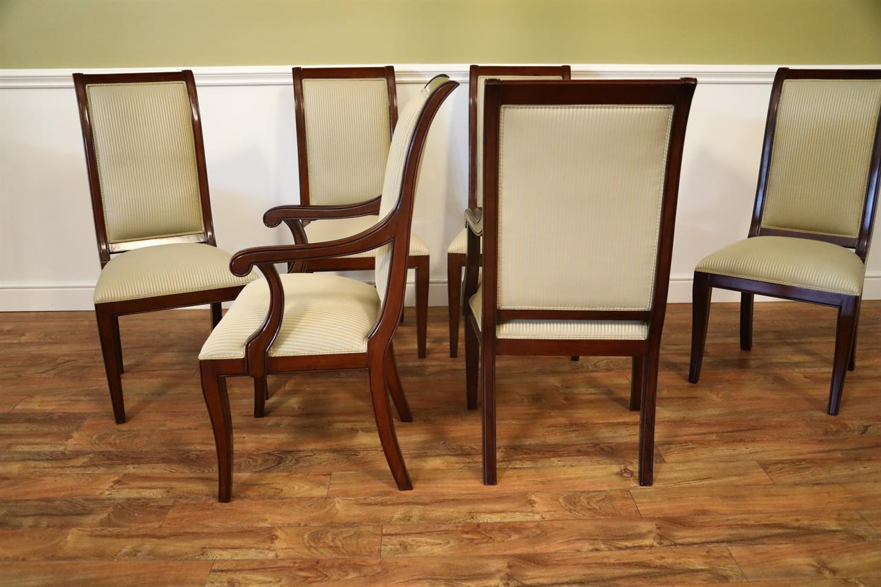 dining room chairs sale hand painted wooden set of 8 solid mahogany transitional