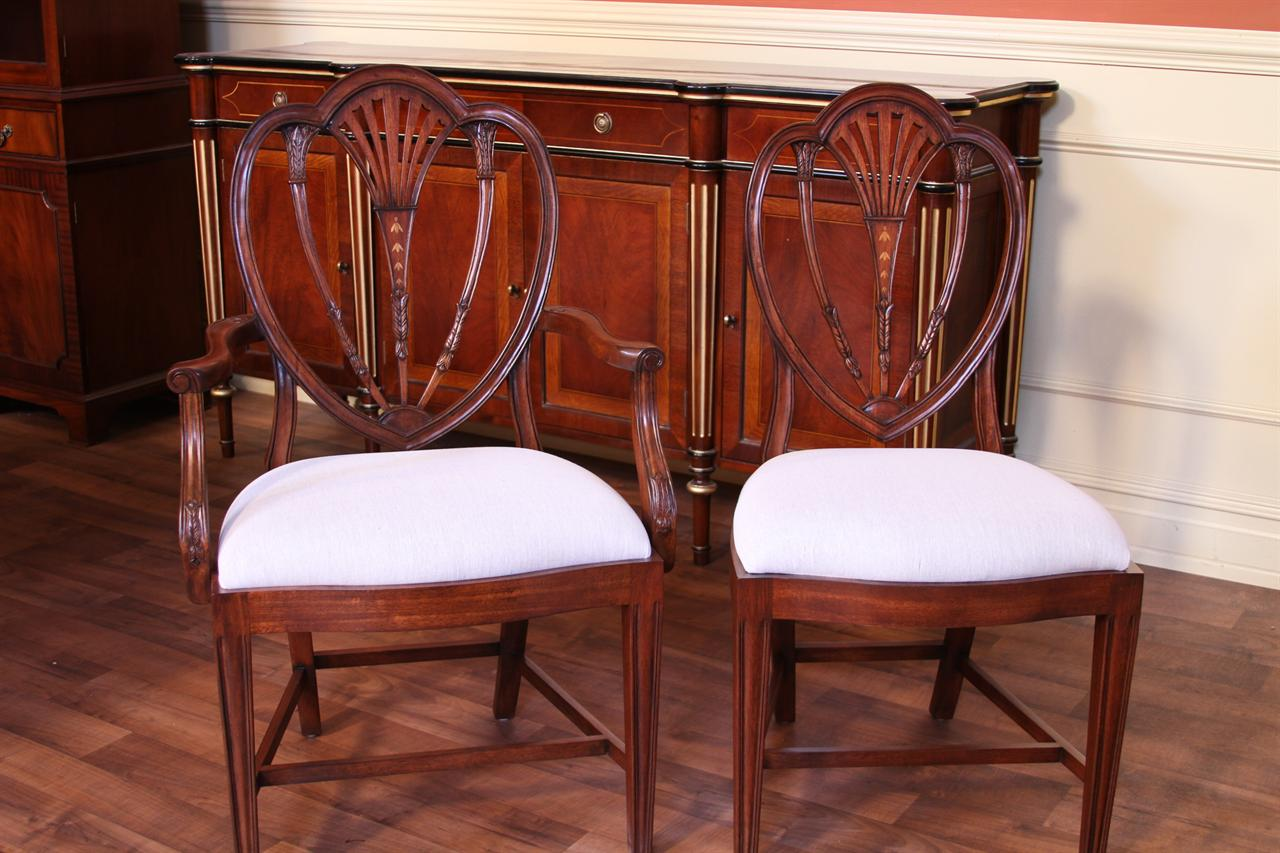 dining chair styles antique true innovations assembly instructions tall back sheraton style chairs hepplewhite