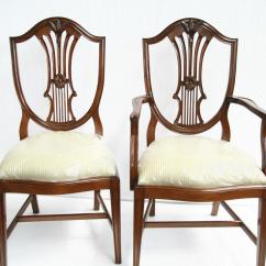 Federal Dining Chairs Golden Technologies Lift Canada Mahogany Shield Back Ebay