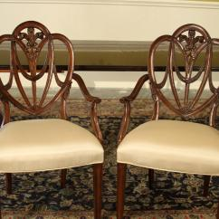 Maitland Smith Dining Chairs Costco Adirondack Mahogany Sweet Heart Shield Back High End Solid Sweetheart Room