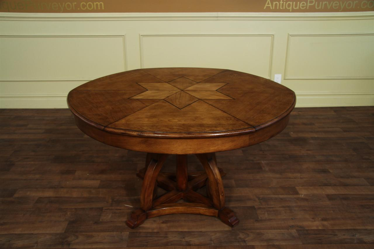 kitchen tables art van cabinets melbourne fl solid walnut round arts and crafts expandable dining room