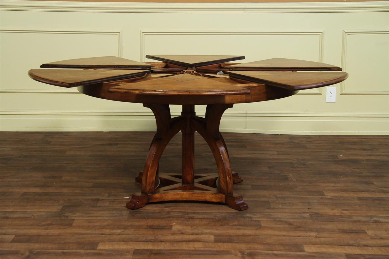 Expandable Round Dining Table Youtube With Regard To