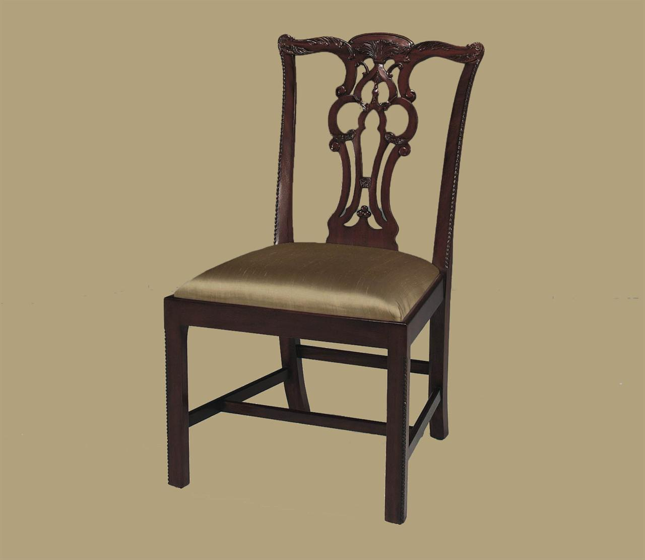 fancy dining chairs kids camp chair mahogany straight leg chippendale formal