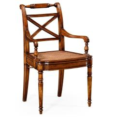 Antique Cane Seat Dining Chairs Tan Leather Chair And Ottoman Solid Walnut Reproduction