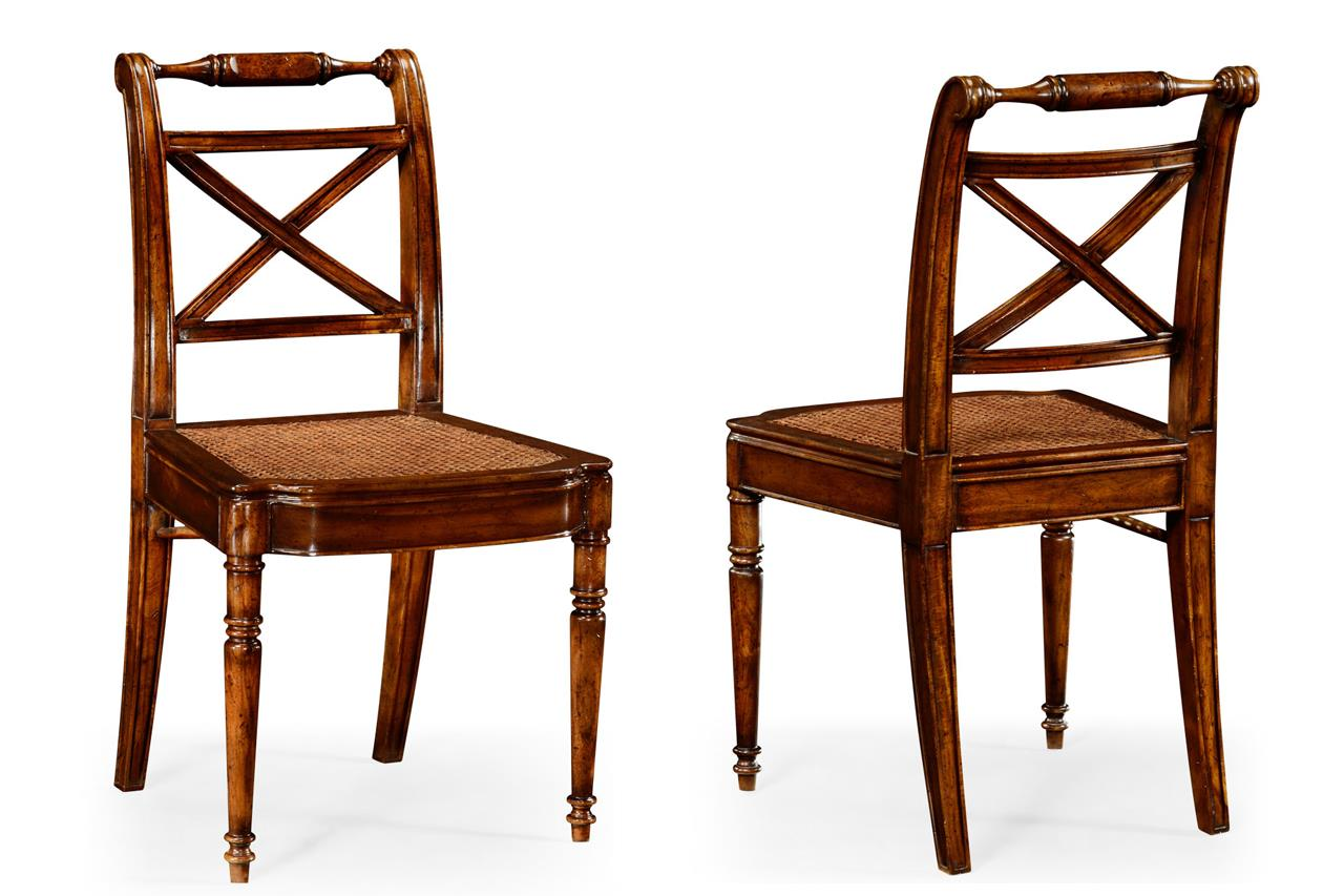 dining end chairs ergonomic office johannesburg solid walnut antique reproduction cane seat chair