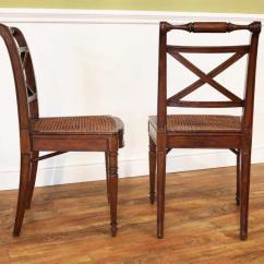 Antique Cane Seat Dining Chairs Camo Folding Chair Solid Walnut Reproduction