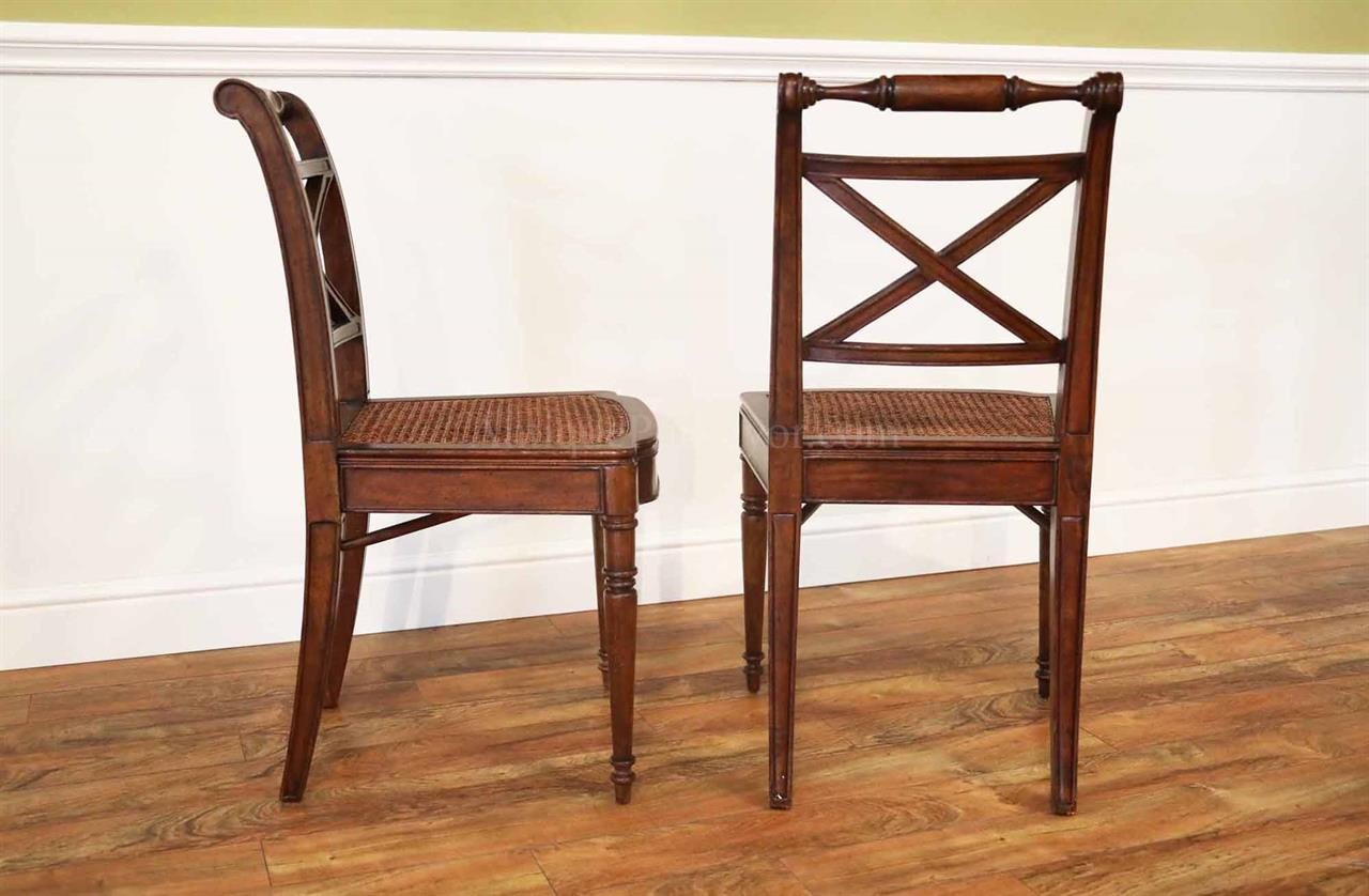 antique cane dining room chairs steel chair for study solid walnut reproduction seat
