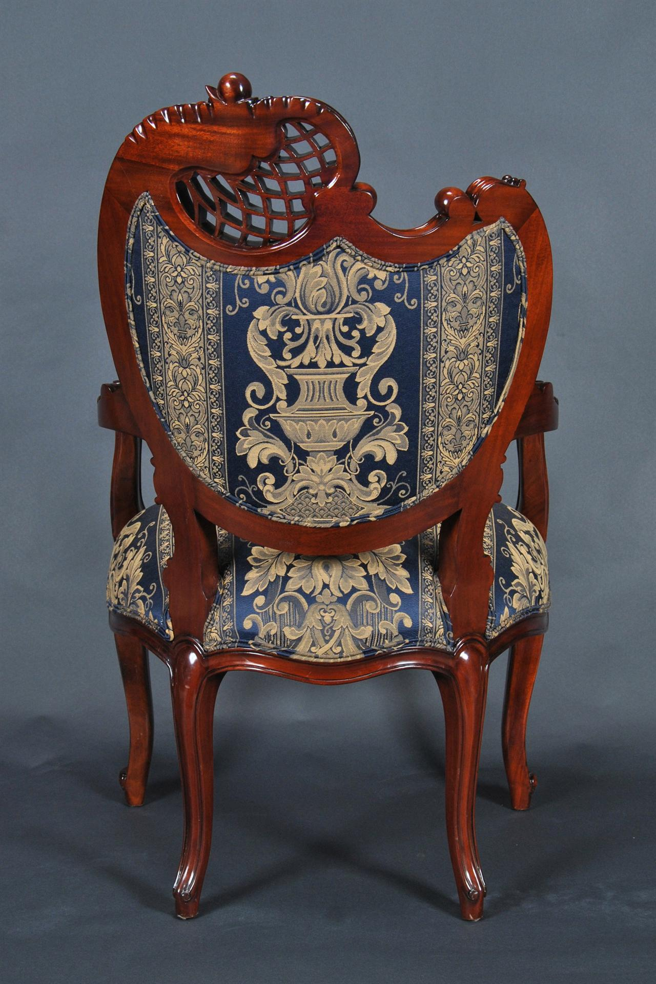 Solid Mahogany French Style Dining Chair High End Furniture