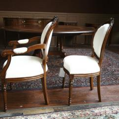 Antique Round Back Corner Chair Fixing Wicker Chairs Upholstered Dining Mahogany