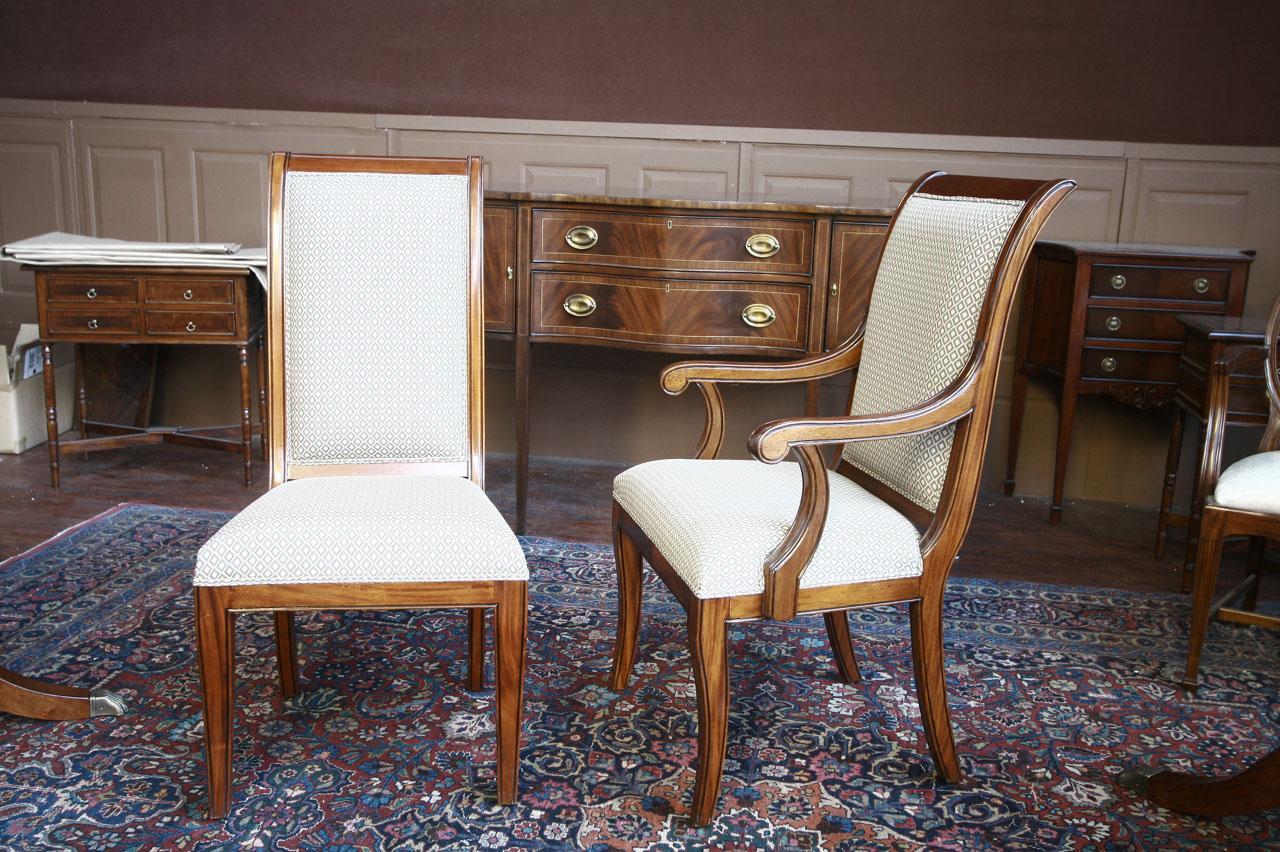 Mahogany Dining Room Chairs  Regency  Upholstered  eBay