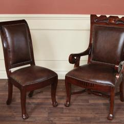 Dining Chairs Upholstered Best Lift Regency Style 2 Large Arm