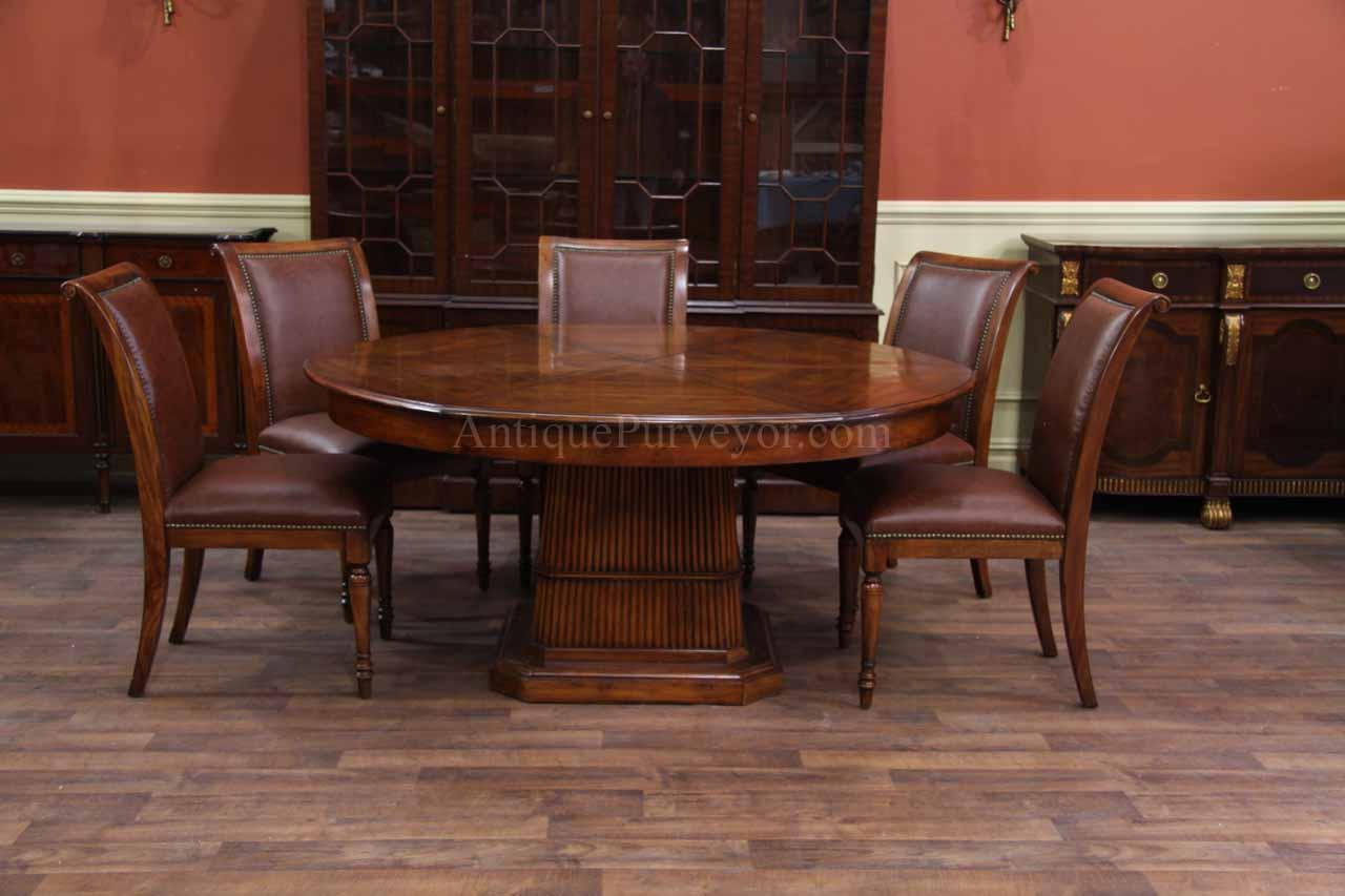 antique mahogany office chair patterned recliner chairs solid walnut round dining table with self storing leaves