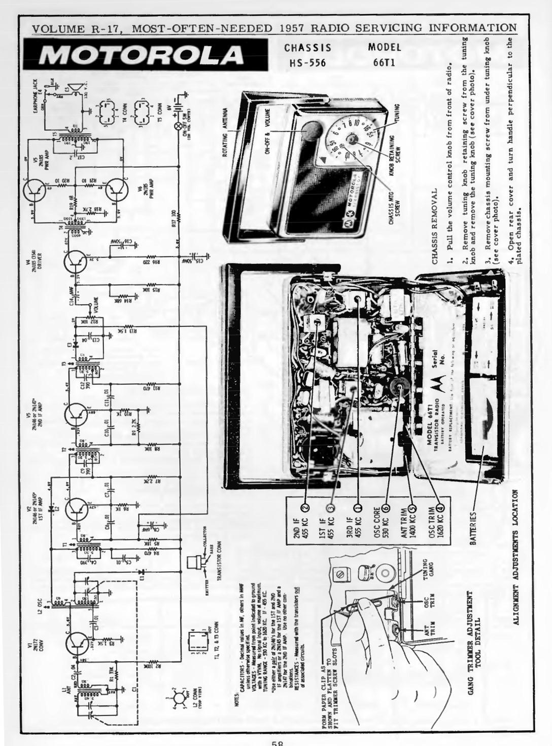 Motorola Model 66T1 Transistor Radio (1957)