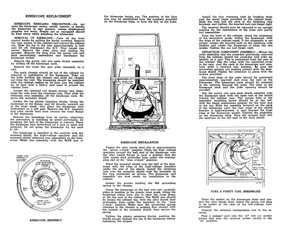 medium resolution of below is the ct 100 section from the 1954 rca television field service manual it includes a complete schematic chassis layout diagram