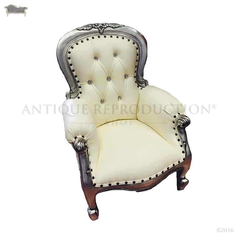 indoor chaise chairs baby chair with name children's mini grandfather - antique reproduction shop