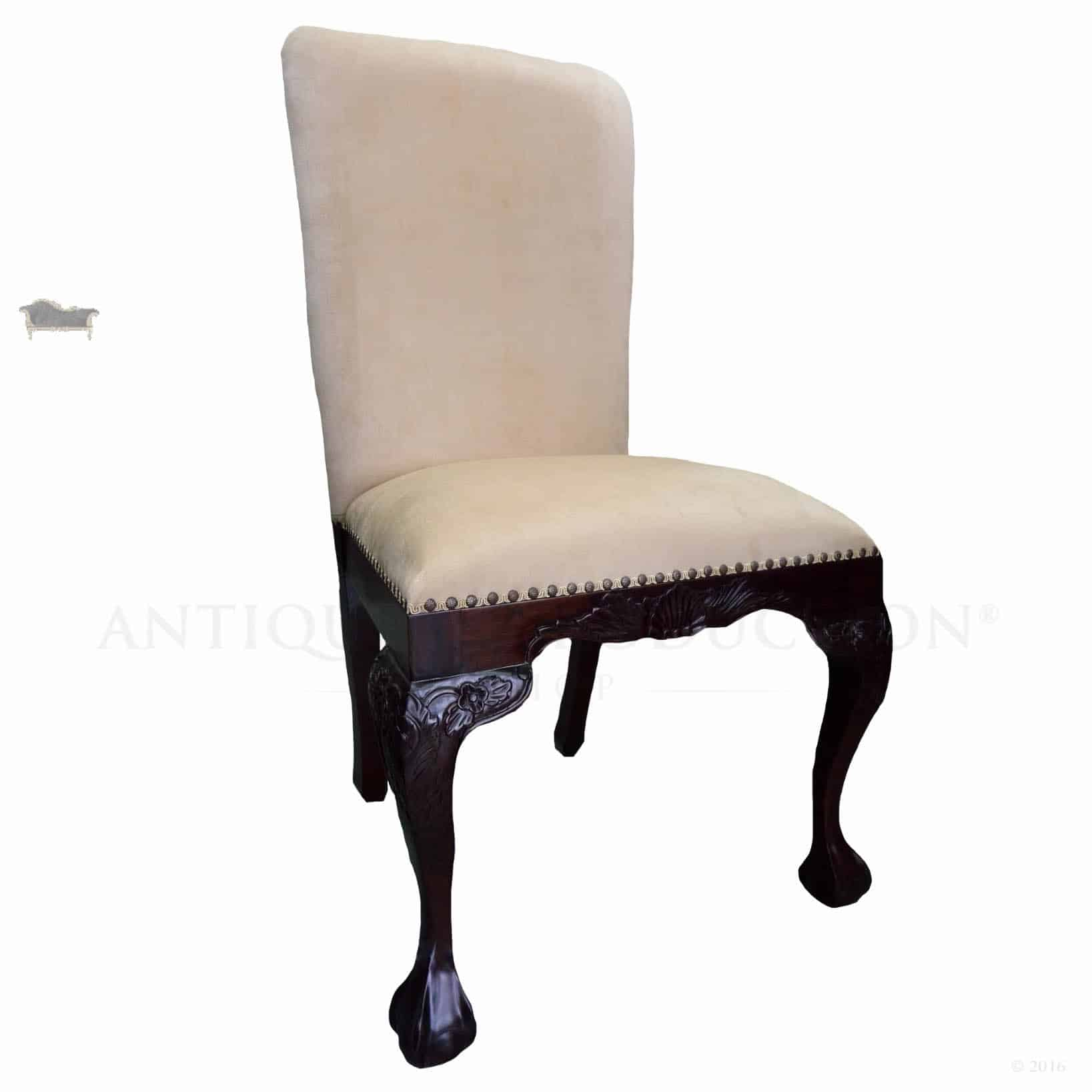 upholstered chairs dining best laptop chair chippendale antique