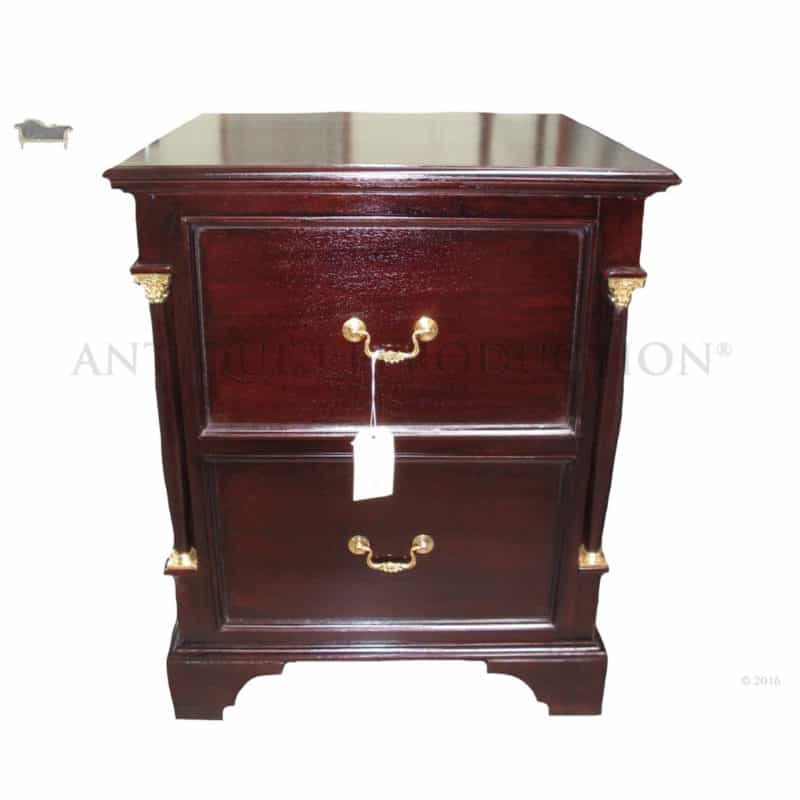 Empire Filing Cabinet 2 Drawer Antique Reproduction