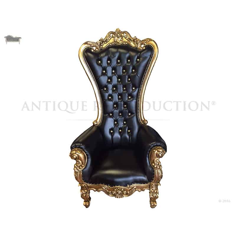black gothic throne chair streit slumber marvelous interior images of homes french provincial alice antique gold and leather rh antiquereproductionshop com au