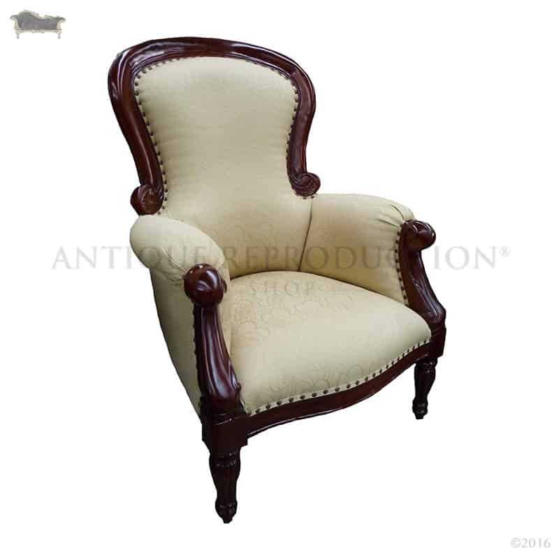 indoor chaise chairs short gym couleur chair grandfather victorian plain back fluted leg - antique reproduction shop
