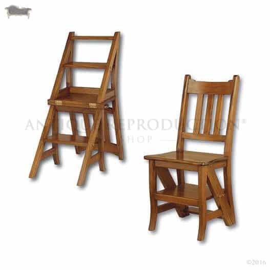 library chair ladder extra large lounge step antique reproduction